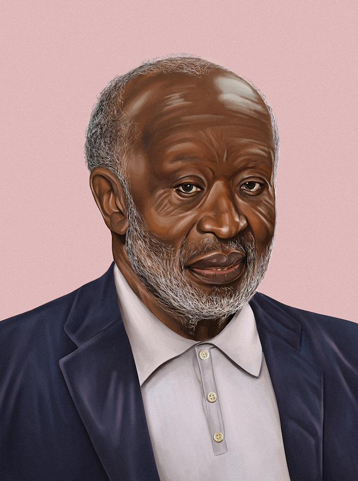 An illustration of Clarence Avant (The Black Godfather) by Ryan Melgar